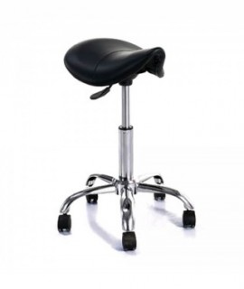 DROPPER Black swivel stool