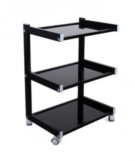 Mobile table with 3 shelves HIGH-CLASS Black