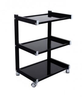 Stolik mobilny z 3 półkami HIGH-CLASS Black