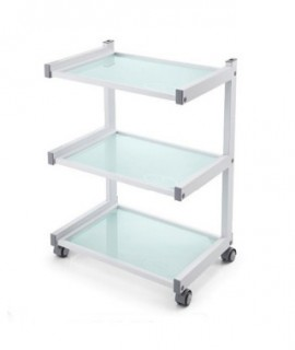 Cosmetic table with 3 shelves
