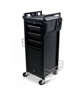 Pomocnik z szufladami na kółkach LONG-LUX Black