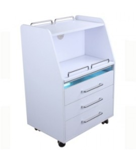 Cupboard - Table with drawers and UV lamp - White