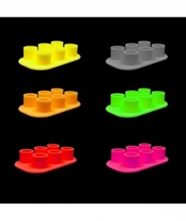 Silicone cups on a stand 6pcs