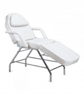 Adjustable cosmetic chair BASIC WHITE