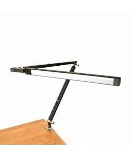 Lampa biurkowa LED – składana - czarna
