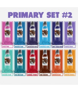 World Famous Primary Color Ink Set 2 12 x 30ml