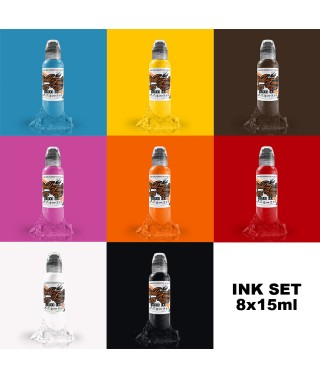 Zestaw Farb World Famous Ink 8x15ml