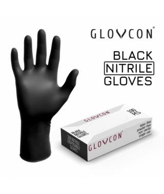 Rękawiczki GLOVCON® NITRILE - BLACK /100szt/