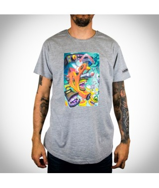 T-shirt VICTOR CHILL - Long Tee Heather Grey