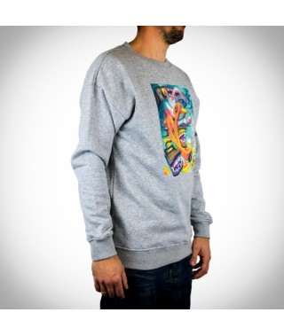 T-shirt VICTOR CHILL - Sweat Crewneck Heather Grey