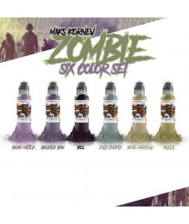 World Famous Ink, Maks Kornev's Zombie Color Set - 1oz - 6x30ml