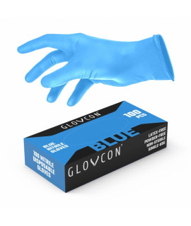 GLOVCON® NITRILE Gloves - BLUE /100pcs/