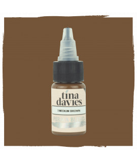 Boja Perma Blend za trajnu šminku - Tina Davies - Medium Brown 15ml