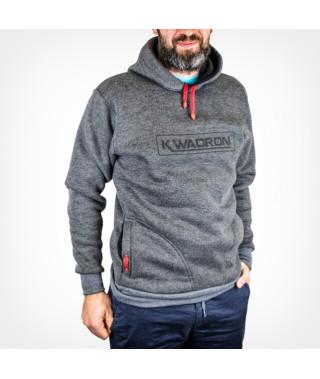 Bluza KWADRON® slim z kapturem GRAFIT
