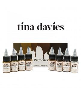 Boja Perma Blend za trajnu šminku - Tina Davies Eyebrow set 8 x 15ml