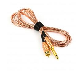 Kabel RCA UNISTAR®  RCA w oplocie TITAN GOLD