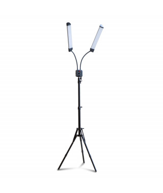 Lampa RING100+statyw - podwójna - z reg. temperatury i mocy