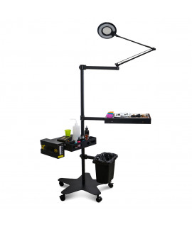 Mobile workstation with handles BLACK-TOWER