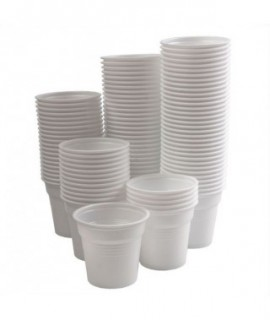 Disposable water cups - 80ml / 100pcs /