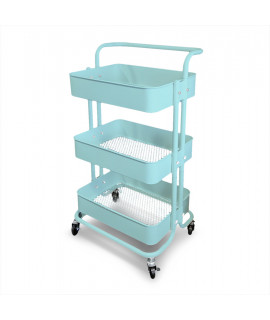 Mobile assistant with 3 shelves - Turquise