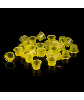 Ink cups Clear Yellow - 500 pcs