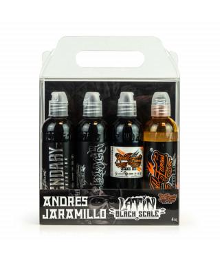 World Famous Ink - Andres Jaramillo's Latin Black Scale Set - 4x120ml