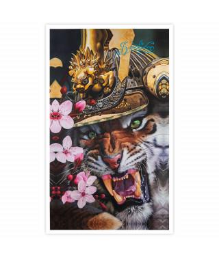 Dmitriy Samohin Print no. 9 - Tiger & Flowers