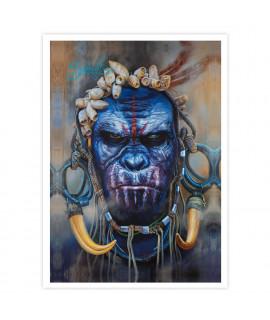 Dmitriy Samohin Print no. 11 - Gorilla Face